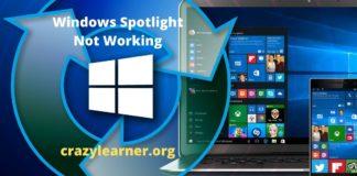 Windows Spotlight Not Working